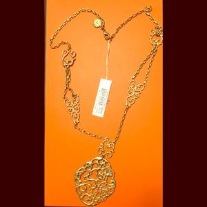 [Jessica Simpson] Gold tone filigree necklace
